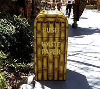 Trash can at Disneyland