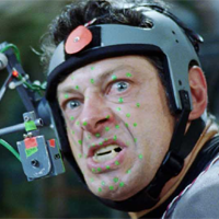 Andy Serkis in motion capture rig