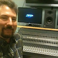 David Mullich at audio recording session.